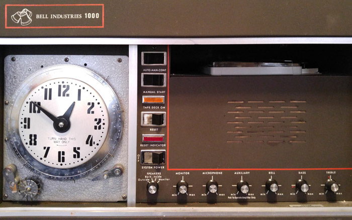 Old 8-track electronic chime system
