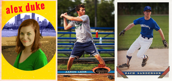 Alex, Aaron and Zach's baseball cards