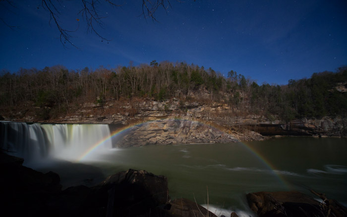 Moonbow over Cumberland Falls