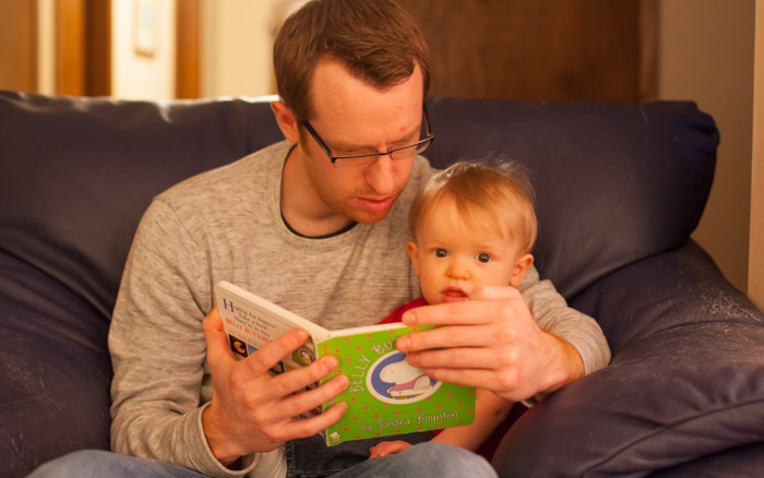 Ryan reads to Henry